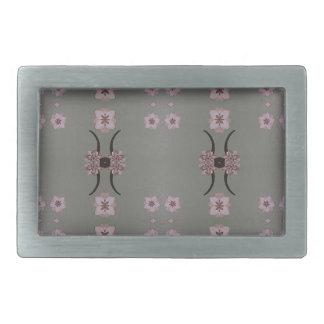 Weicher rosa Muster-Grau-Hintergrund Rechteckige Gürtelschnalle