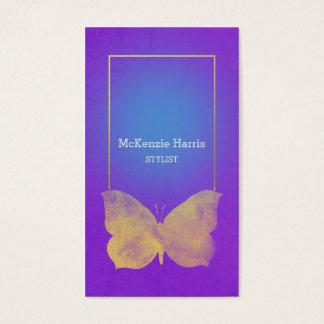 Weicher Schmetterling auf Juwel-Ton-Hintergrund | Visitenkarte