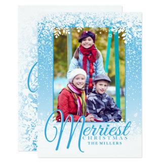 Weicher Schnee, frohste Weihnacht-Foto-Karte 12,7 X 17,8 Cm Einladungskarte