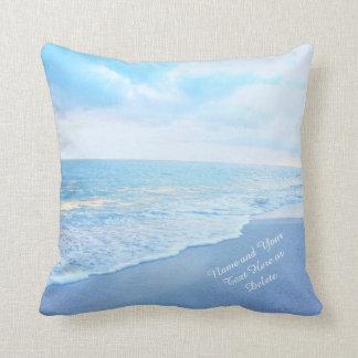 Weicher Türkis und blauer Strand Pillows IHREN Kissen