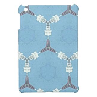 Weiches Baby-Blau-weißes graues geometrisches Hülle Für iPad Mini