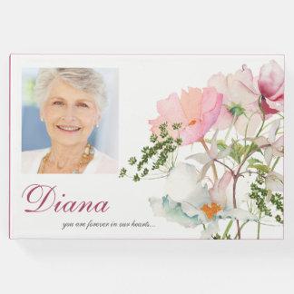 Weiches Begräbnis- Erinnerungsgast-mit Blumenbuch Gästebuch