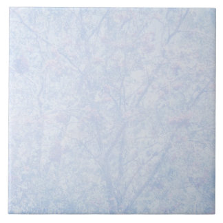 Weiches blaues Tönungs-Eberesche-Muster Keramikfliese
