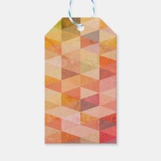 Weiches Dreieck-geometrisches Muster Geschenkanhänger