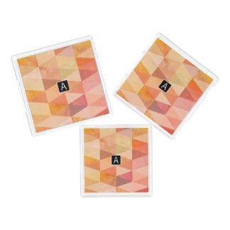 Weiches Dreieck-geometrisches Muster | mit Acryl Tablett