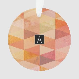 Weiches Dreieck-geometrisches Muster | mit Ornament