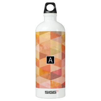 Weiches Dreieck-geometrisches Muster | mit Wasserflasche