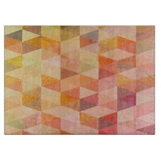 Weiches Dreieck-geometrisches Muster Schneidebrett