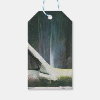 Weiches Farbtreibholz durch Wasserfall Geschenkanhänger