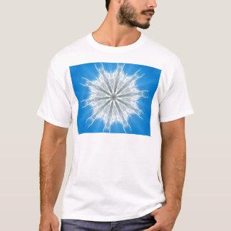 Weiches flaumiges Schneeflocke-Kaleidoskop T-Shirt