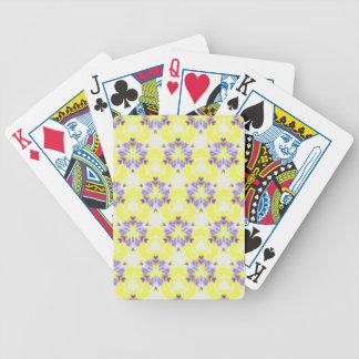 Weiches gelbes Lavendel-Fraktal-nahtloses Muster Bicycle Spielkarten