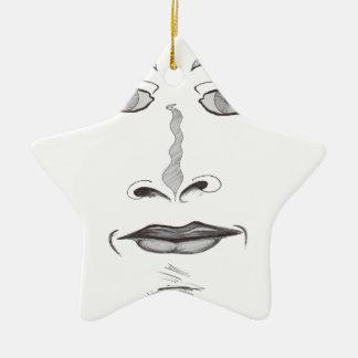 Weiches Gesicht Keramik Stern-Ornament