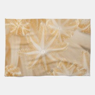 Weiches korallenrotes Polyp-Geschirrtuch Handtuch