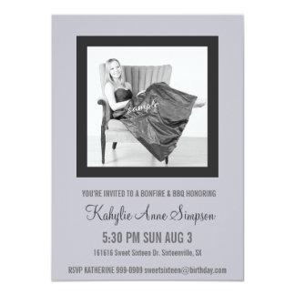 Weiches lila und graues Party des Bonbon-16 11,4 X 15,9 Cm Einladungskarte