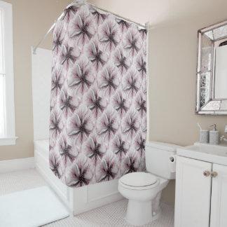 Weiches romantisches rosa Blumen Duschvorhang
