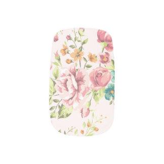 Weiches rosa Blumen Minx Nagelkunst