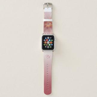 Weiches rosa Blumenabstraktes Apple Watch Armband