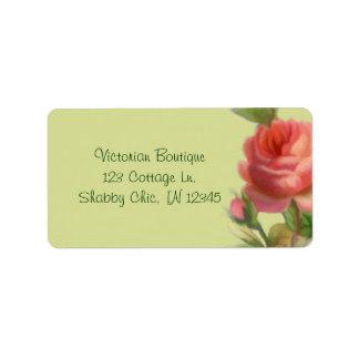 Weiches Rosen-Adressen-Etikett Adress Aufkleber