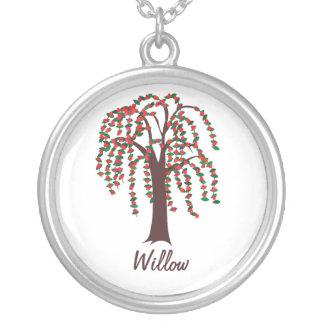 Weide-Baum mit den Herzen - kundengerecht Versilberte Kette