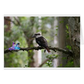 Weide und Mary, die mit Kookaburra sprechen Karte