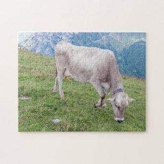 Weiden lassen des Kuh-Fotopuzzlespiels Puzzle