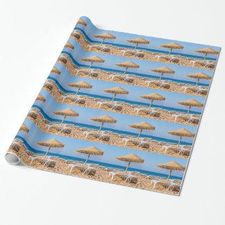 Weidensonnenschirm mit Strand beds.JPG Geschenkpapier
