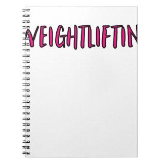 Weightlifting-Entwurf Notizblock