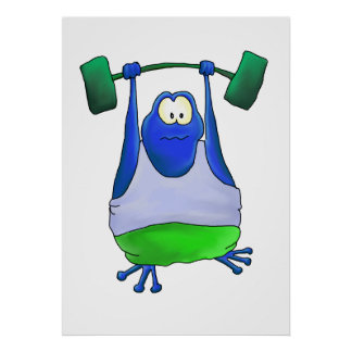 Weightlifting-Frosch Poster