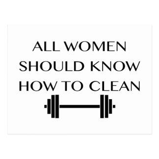 Weightlifting für Frauen Postkarte