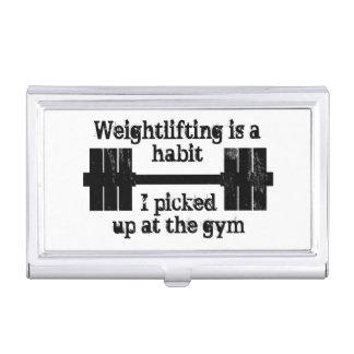 Weightlifting-Gewohnheit Visitenkarten Dose