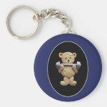 Weightlifting-Teddybär Schlüsselband