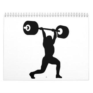 Weightlifting Weightlifter Kalender