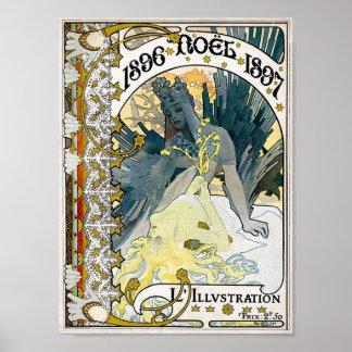 WEIHNACHTEN 1897 Plakat 1896 Alphonse Maria Mucha
