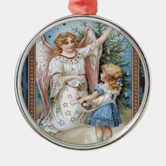 Weihnachten 1 silbernes ornament