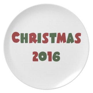 Weihnachten 2016 melaminteller