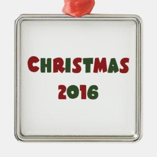 Weihnachten 2016 silbernes ornament