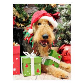 Weihnachten - Airedale - Kiehn Postkarte