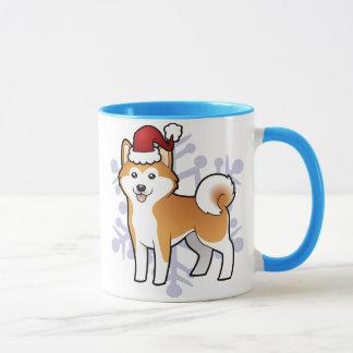 Weihnachten Akita Inu/Shiba Inu Tasse