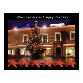 Weihnachten am La Piazzetta von Capri mit Postkarte