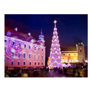 Weihnachten am Schloss-Quadrat in der alten Stadt Postkarte