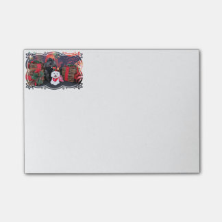 Weihnachten - Amiche Pudel - Tinkerbell maltesisch Post-it Klebezettel