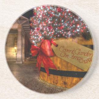 Weihnachten an Covent Garten, London Bierdeckel