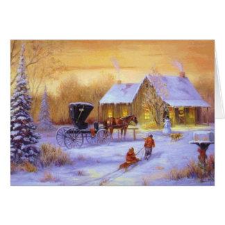 Weihnachten an der Kabine Karte