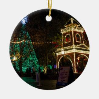 Weihnachten an der silberner Dollar-Stadt Keramik Ornament