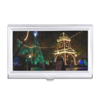 Weihnachten an der silberner Dollar-Stadt Visitenkarten Etui