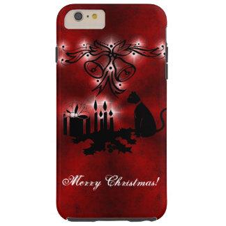 Weihnachten Artdeco mit schwarzer Katze Tough iPhone 6 Plus Hülle