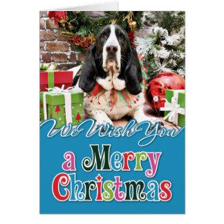 Weihnachten - Basset Hound - Jasmin Karte