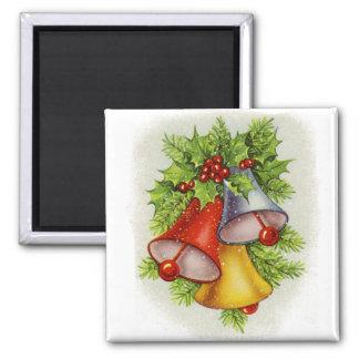 Weihnachten Bell Quadratischer Magnet