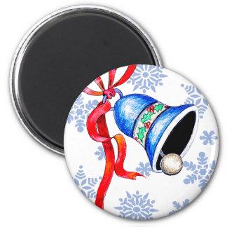 Weihnachten Bell u. Runder Magnet 5,7 Cm