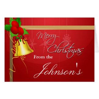 Weihnachten Bell und Band Karte